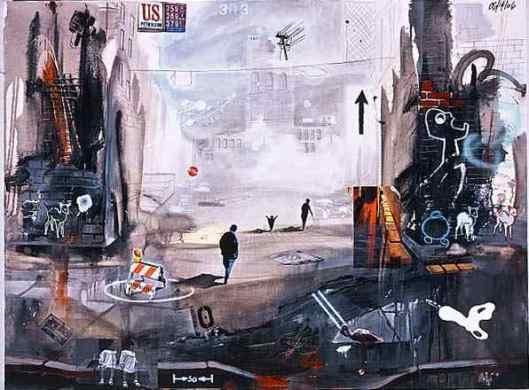 Painting Title : Surreal Marcus Jansen Expressionist Urban Art - Paintings