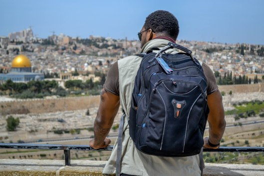 Elijah Shaw in Isreal; Photo Credit: Dwayne Franklin